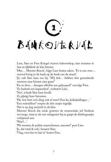 Bankoverval - Klap krant