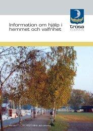 Hjälp i hemmet och valfrihet - version 7_130527.indd - Trosa kommun