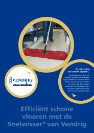 Efficiënt schone vloeren met de Snelwisser® van Vendrig