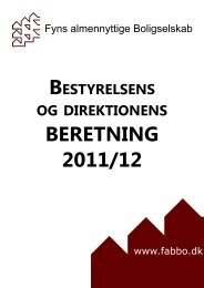 Bestyrelsens og direktionens beretning - Fyns almennyttige ...