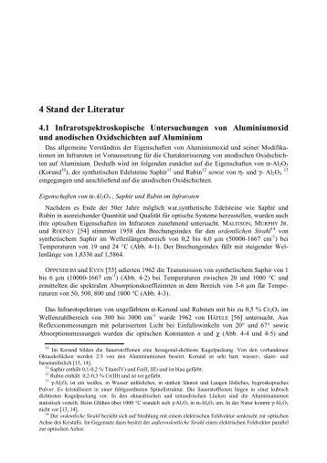 4 Stand der Literatur 4.1 Infrarotspektroskopische ... - bei Duepublico