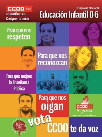 Programa electoral - Federación de Enseñanza de Madrid