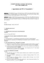 COMPTE RENDU DE LA REUNION DU CONSEIL MUNICIPAL DU ...
