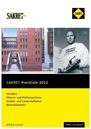 SAKRET Preisliste 2012 Hochbau Fliesen- und ... - SAKRET GmbH