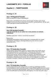 Kapittel 2 – Tariffsaker - NNN