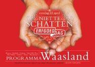Wase programmabrochure Erfgoeddag 2007 - Erfgoedcel Waasland