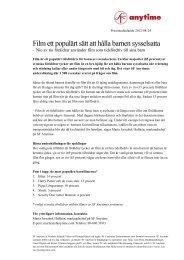 Film ett populärt sätt att hålla barnen sysselsatta - Mynewsdesk