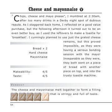 Cheese and mayonnaise - Tried and Toasted