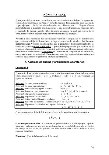 NÚMERO REAL - x.edu.uy Matematica