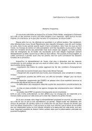 Saint Etienne le 15 novembre 2008 Madame l'inspectrice, Je vous ...