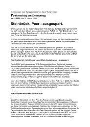 Steinbrück, Peer - ausgespart. - Egon W. Kreutzer