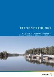 Biotopmetoden 20050615.qxd - Vattenfall