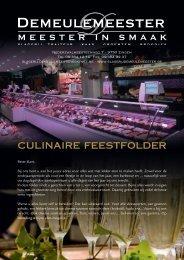 Culinaire Feestfolder - Slagerij Demeulemeester
