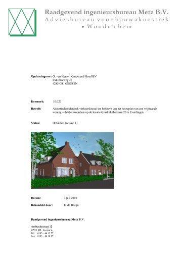 Raadgevend ingenieursbureau M etz B.V. - Gemeente Vianen