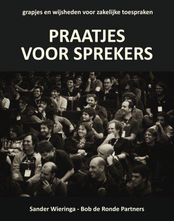 Praatjes voor sprekers - Bob de Ronde Partners BV