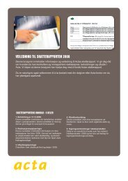 VEILEDNING TIL SKATTERAPPORTEN 2009 - Acta