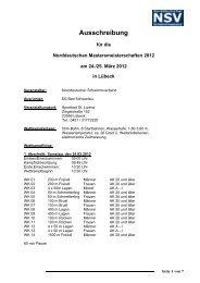 NDM Masters 2012 Ausschreibung - DSV