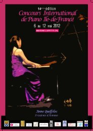 brochure sponsor du concours - Concours International de Piano de ...