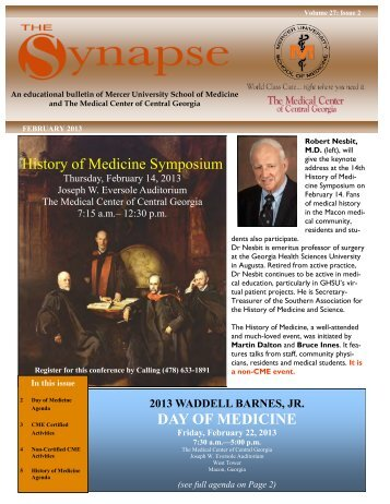 Synapse – February 2013 - MCCG General Surgery Residency