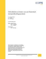 Ontwikkelen en testen van een Eutectisch transportkoelingssysteem