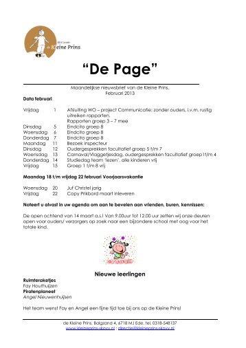 Page februari 2013 - Kleine Prins