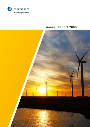 Årsrapport/Annual Report 2008 1016 kB / pdf - Nordic Energy ...