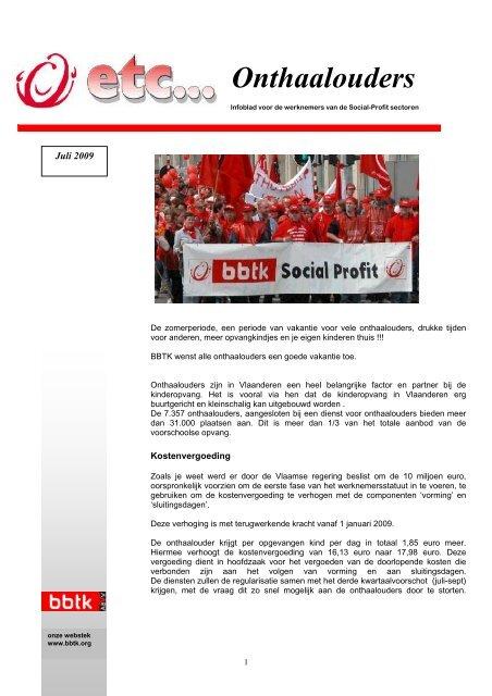 ETC... Onthaalouders 7/2009 - BBTK
