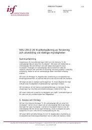 Kvalitetssäkring av forskning och utveckling vid statliga myndigheter