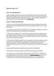 Règlement tirage au sort Article 1 : Société organisatrice Insight ...