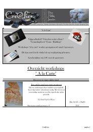 Overzicht workshops