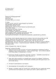 Arbejdsgruppe vedr. registrering og terminologi 24. januar 2012