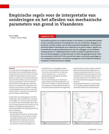 Empirische regels voor de interpretatie van ... - GeoTechniek