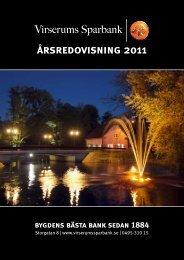 årsredovisning 2011 - Virserums Sparbank
