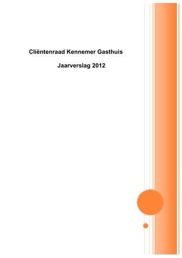 Cliëntenraad Kennemer Gasthuis Jaarverslag 2012