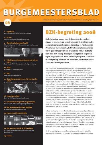 burgemeestersblad 46 - Nederlands Genootschap van Burgemeesters