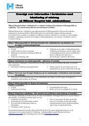 Misbrugspolitik for Nordsjællands Hospital (incl aftaleark)