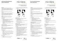Gebruiksaanwijzing Microlens zachte contactlenzen User ...