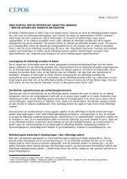 Holdning til offentligt ansattes lønkrav - Cepos