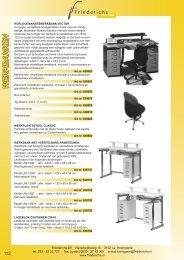 pag 112 t/m 119 werkbanken, verlichting, werkhouders