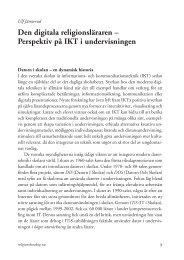 Den digitala religionsläraren – Perspektiv på IKT i ... - Jämterud