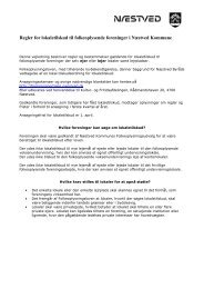 Regler for lokaletilskud - Næstved Kommune