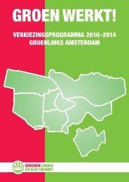 Verkiezingsprogramma - GroenLinks Amsterdam