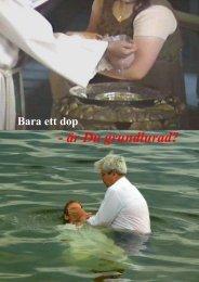 bara ett dop - är du grundlurad? - Endtime.net