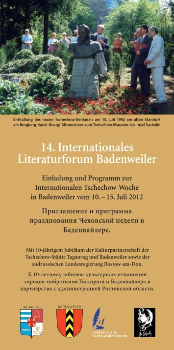 Flyer TschechowWoche_Layout 1 - Deutsche Tschechow-Gesellschaft