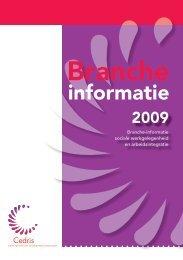 Branche-informatie 2009 - Cedris
