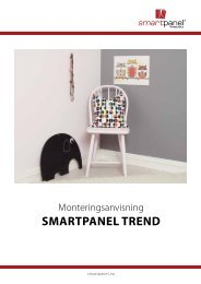 Monteringsanvisning Smartpanel Trend