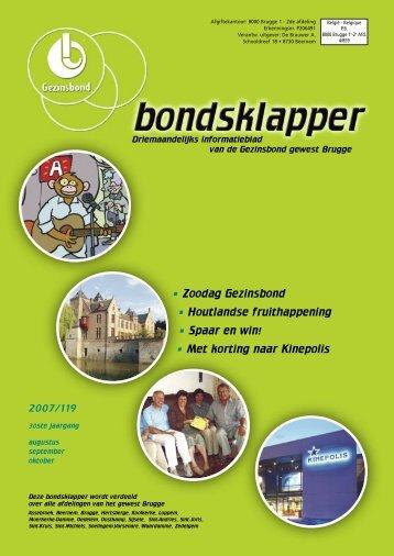 BONDSKLAPPER Nr. 119 - Gezinsbond Gewest Brugge