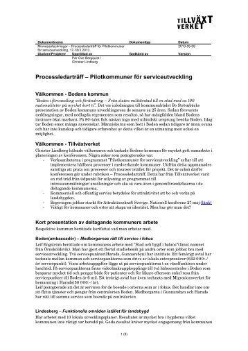 Processledarträff Boden 17-18 april för webb.pdf - Tillväxtverket