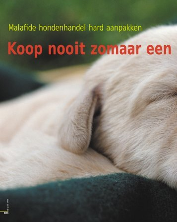 Malafide hondenhandel hard aanpakken - Dierenbescherming