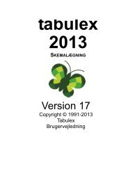 Tabulex Skemalægning 2013